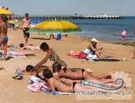 На пляже Лазурного