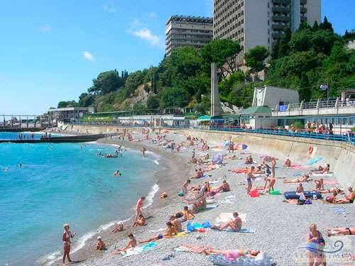 Санаторий Ай-Петри: пляж