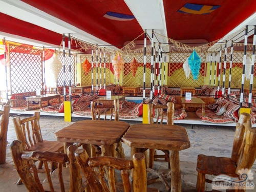 Пансионат Южный: бар на пляже