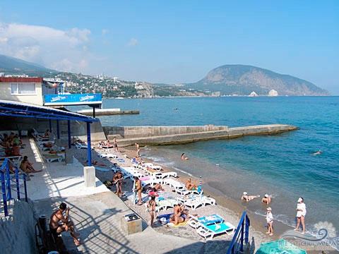 Пансионат Морской бриз: пляж