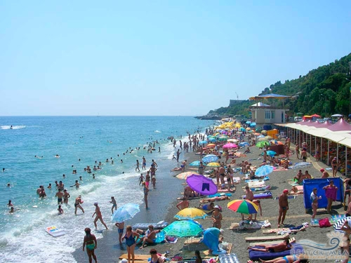 Санаторий Алушта: пляж