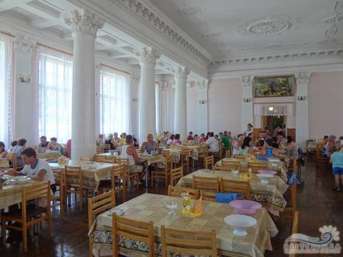 Санаторий Алушта: столовая