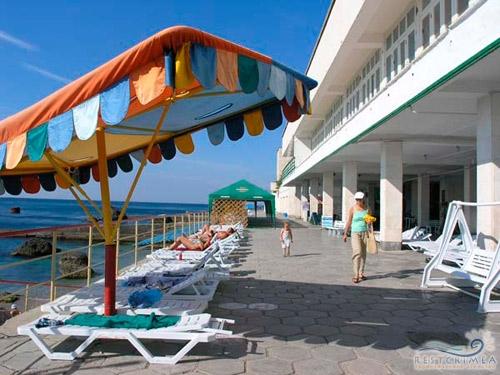 Санаторий Форос: пляж