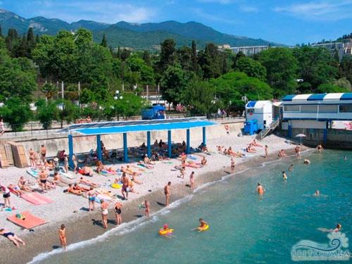 Санаторий Гурзуфский: пляж