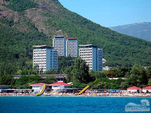 Санаторий Крым: вид с моря