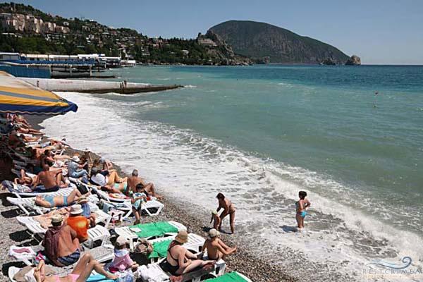 Санаторий Пушкино: пляж
