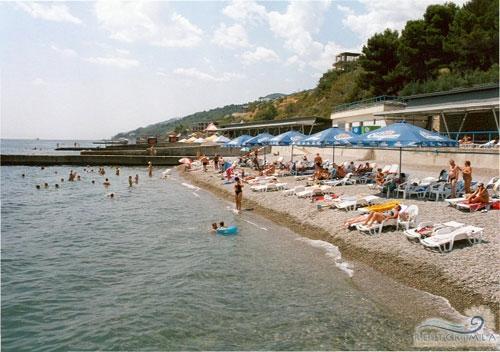 Санаторий Россия: пляж