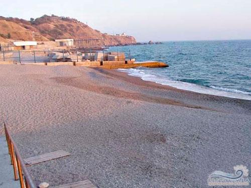 Санаторий Зори Украины: пляж