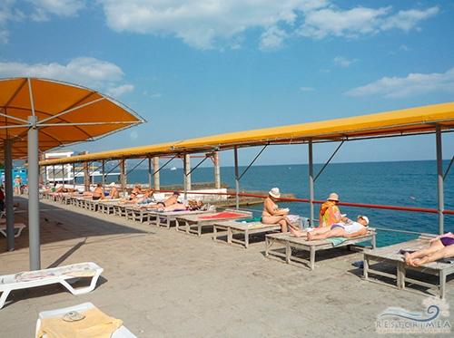 Санаторий Горный: пляж